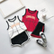 Toddler boy summer Vest Children's basketball baby girl Tops 2pcs set Kids sports clothes set outfit white 80 cotton
