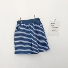 2019 Fashion Boy Pants Kids Summer Trousers Children Pants for Baby Shorts beach loose cool stripe blue 80