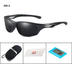 DUBERY Brand Design Men's Glasses Polarized Sunglasses Driving Shades Male Mirror Goggle UV400 c3 one size