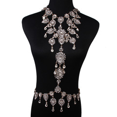 Luxury diamond-encrusted personality necklace and women's body chain accessories 7 colour general
