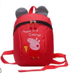 Cute Piggy Cartoon Design kids Backpacks 1Y-6Y Baby girls and boys red