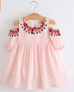 Summer New Fashion Kids Cut Sleeve Dresses Girls Skirts Girls Wears Clothes Cotton pink 100