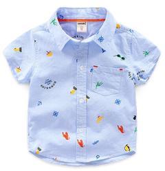 Baby boys Summer clothing Cotton T-shirts short 1pcs blue 130 cotton