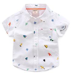 Baby boys Summer clothing Cotton T-shirts short 1pcs white 90 cotton