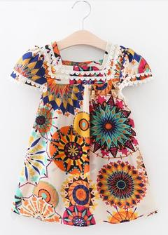 Baby Dresses Summer Flowers Girls Skirts Girls Wears Clothes colorfu 100