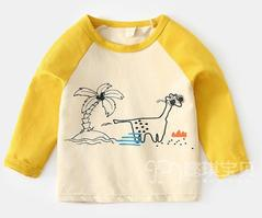 Baby Boys Clothing Long Sleeve T-shirt Yellow yellow 90 cotton