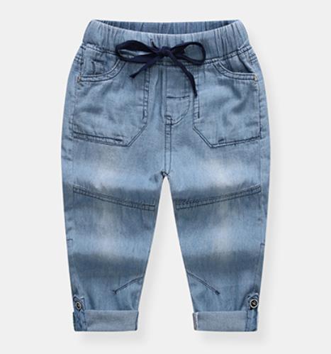 Kids Clothes Baby Boys Long Pants Cotton Trousers light blue 110