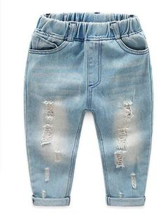 Kids Jeans Boys Long Pants Long Jeans Baby Clothes light blue 90