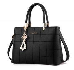 Fashion Women Handbag PU Leather Bags 8 Colors black one size