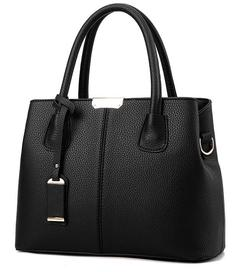 New Fashion Women Handbags PU Leather two Color black one size