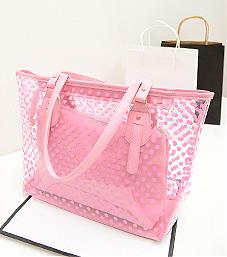 2019 New Fashion Women PVC Jelly Bags 5 Colors pink one size