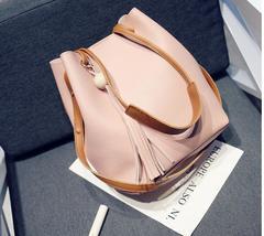 Women Handbags Tassel Single Shoulder 4 Colors Buy 1 Get 2 pink one size
