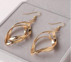 New Fashion Ladies Jewelry Women Earrings gold one size