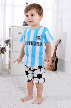 Baby Boys Clothes Summer T-shirt and pants 2pcs FOOTBALL 90 cotton