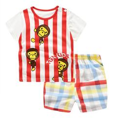 Baby Boys Clothes Summer T-shirt and Pants 2pcs monkey 90 cotton