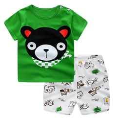 Baby Boys Clothes Summer T-shirt and pants 2pcs bear 90 cotton