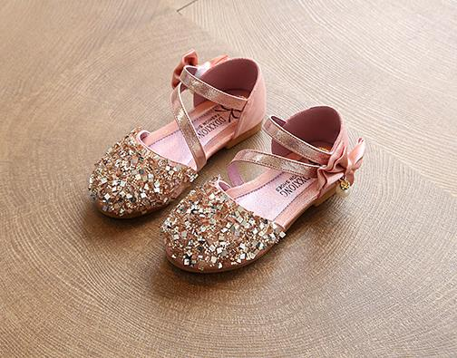 Baby Girls Princess Shoes Dress Shoes PU Leather Pink 31