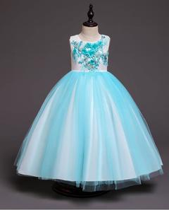 Baby Girls Princess Dresses Wedding Dresses Party Dresses Birthday Skirts blue 110