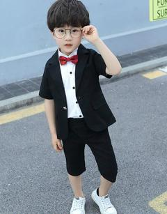 3 Pcs/Set Baby Boys Suits Boys Dress Costumes Party Dress T-shirt+Suit+Pants  3 Colors black 100