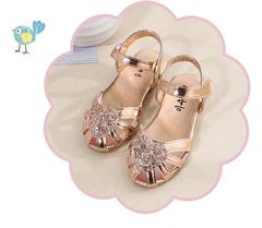 Baby Girls Summer Princess Shoes Party Shoes Dress Shoes gold 26