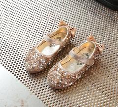 Girls Princess Shoes Party Shoes Dress Shoes Butterfly Shoes gold 34