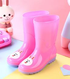 4 Colors Children Water Boots Rain boots Boys and Girls Rains Shoes pink 30