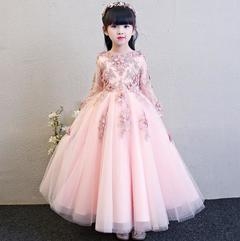 Baby Girls Flower Dress Princess Dreass PartyA Dress Birthday Skirt pink 100