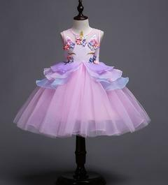 Girls Performance Dress Party Dress Flower Dress pink 100