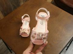 Girls Summer Dress Sandals Butterfly Shoes 2 Colors pink 21
