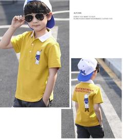 Boys Summer T-shirt and Pants 2 Pcs 3 Colors yellow 110 cotton