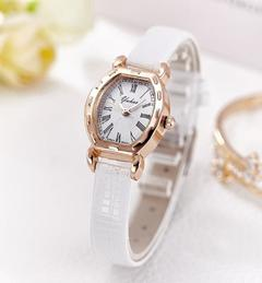 New Fashion Classical Lady's Leather Watch 4 Colors white one size