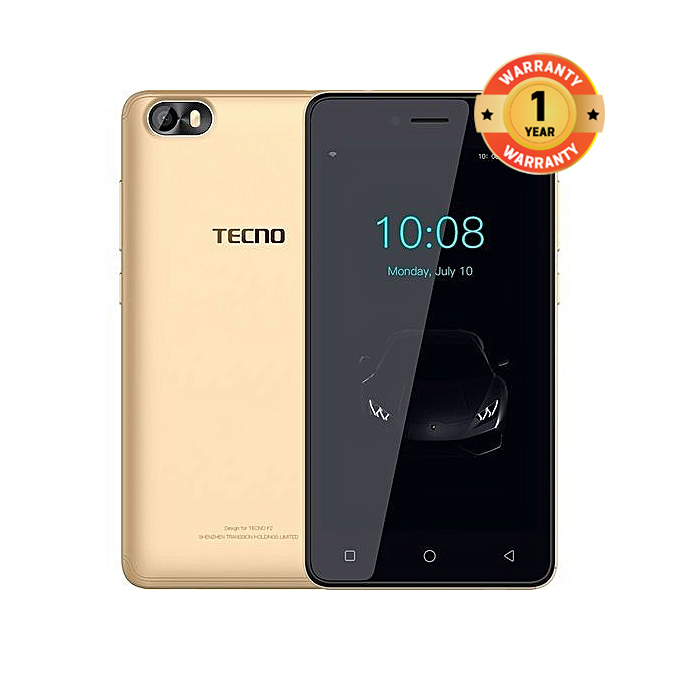 "TECNO F1, 5.0"", 8GB+1GB (Dual SIM) Smartphone New Smart Phone gold"