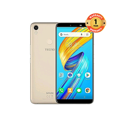TECNO Spark 2, 16GB, 1GB RAM, 13MP Camera (Dual SIM) gold