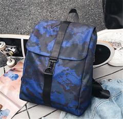 New Men's Backpack Business Fashion Casual Men's Bag Sports Trend Computer Bag Schoolbag Travel Bag blue one size