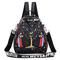2019 new women's backpack bag wild print small bag fashion reversing dual-use ladies mini backpack black one size