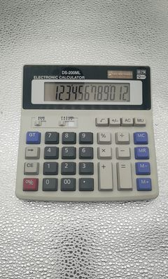 Solar desktop dual power 12 digital display universal calculator for daily office work