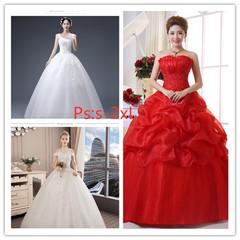 Chinese and European Wedding Garments 2019 Bride's Slender Marriage Princess Dream Dreamdress S White1