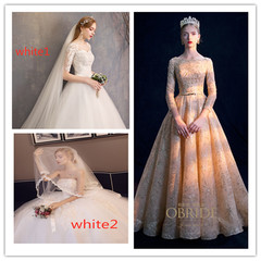 The New Court Wedding Garment of Self-cultivation in 2019  Bride's Slender Wedding Dress s white1