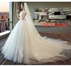 Bride Princess Dream Chest-wiping and Tail-tailed Wedding Dress, 2019 s 6