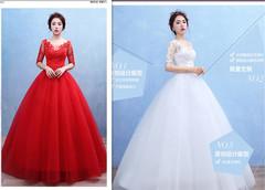 European and American Wedding Garment 2019 New Type of Shoulder Sleeve Wedding Garment 2xl white1