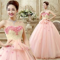 New color wedding dress, stage solo dress, film studio dress, Long-style performance dress s wedding dress