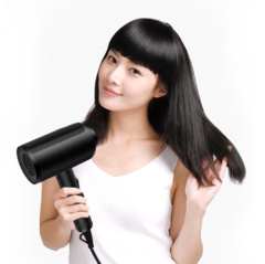 High-power household electric Anion hair dryer Fast Styling Blow Dryer Hair Drier Black One size