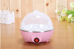 Egg Steamer automatic power steamed egg multi-functional stainless  egg steamer Steamed egg Pink one size