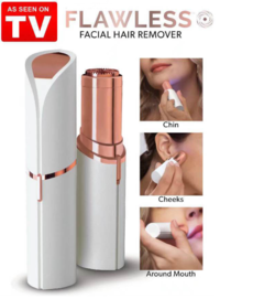 Flawless Electric Painless Lipstick Epilator Shaver Lady Facial Hair Remover Mini Hair Removal White one size