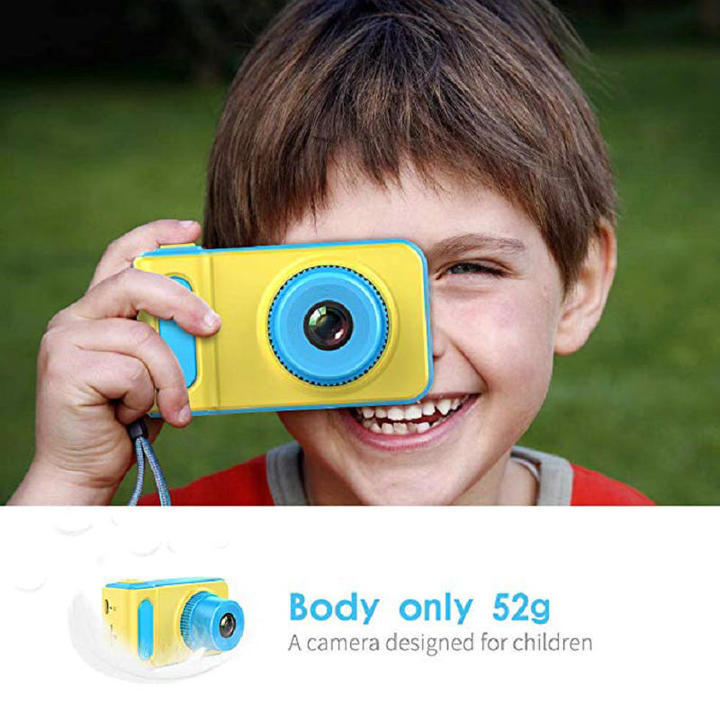 HD 8MP Kids Camera Gifts, Shockproof Mini Child Camcorder Soft Silicone Shell for Outdoor Kids' Gift