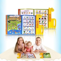 Learning Quran Machine - Tablet, E-Book Drawing Pad Musical Toy Kids' Learning Arabic/ English Yellow 30*30*3cm