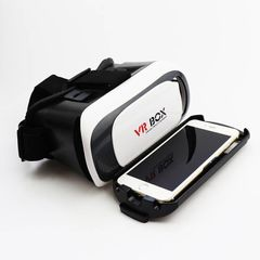 New VR 2.0 BOX Glasses For Videos & Movies Reality High Definition 3D Glasses game glasses white one size