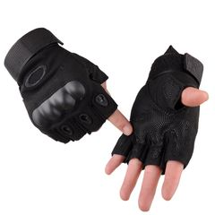 Man Collection Outdoor Sports Military Tactical Airsoft Anti-slip Half Finger Gloves black xl