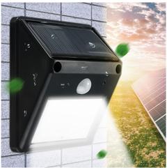 12LED Solar Powered Motion Sensor Light Garden Fence Patio Security Wall Light Lamp Night Light black 87*117*44cm 0.65w