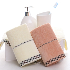 Cotton thick jacquard twill towel home towel 2pcs two-color 75cm*34cm